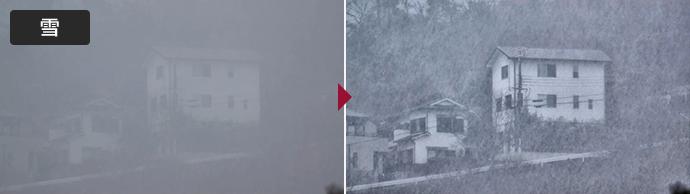 画像取込鮮明化ソフト LISr-Capture 鮮明化処理例 雪