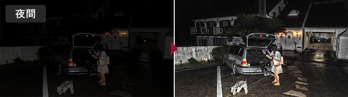 画像取込鮮明化ソフト LISr-Capture 鮮明化処理例 夜間