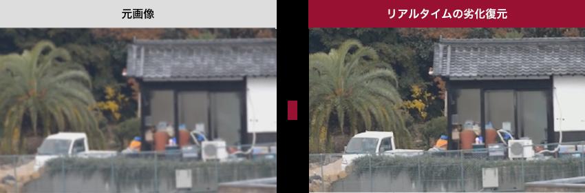 元画像からリアルタイムの劣化復元